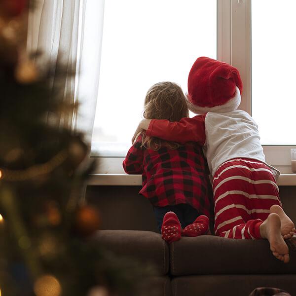 kids on christmas